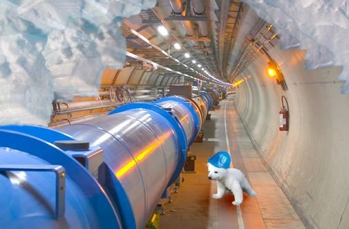 Large Hadron Collider staying cool at just a hair above absolute zero temperatures