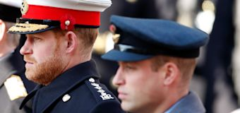 Report: William, Harry speak prior to royal funeral