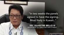 DOLE announces signing of final draft of Kuwait-PH agreement on OFW rights