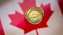 Canadian dollar drops, posts weekly decline on greenback short-covering