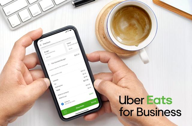 Uber Eats makes it easier to expense business lunch