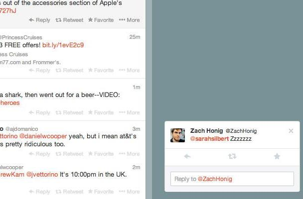 Twitter experimenting with pop-up notifications on the web