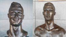 Madeira Airport 終於把面容扭曲的 Cristiano Ronaldo 銅像給替換了!