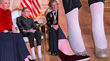 Ruth Bader Ginsburg praised for rocking glittery high heels