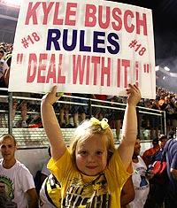 Jeers, insults can't slow down Busch