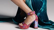 Tamara Mellon's Groovy, Upcycled Scarf Shoes Are One-of-a-Kind