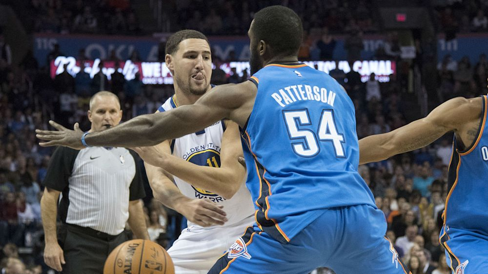 NBA fines Thunder's Patrick Patterson $10K for tweet criticizing officiating