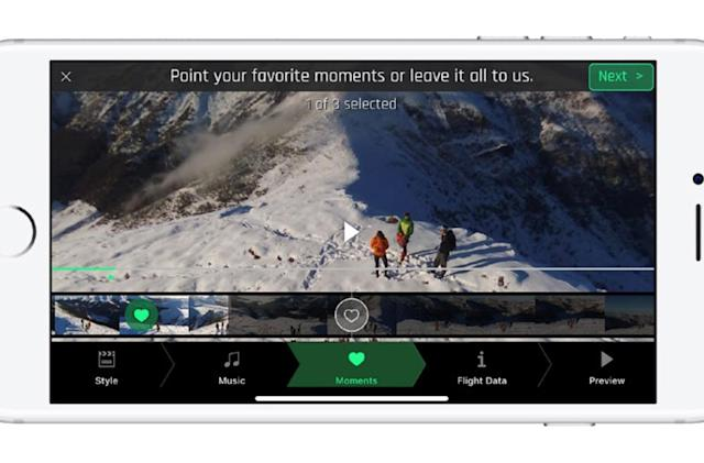 Parrot app automatically edits your drone videos