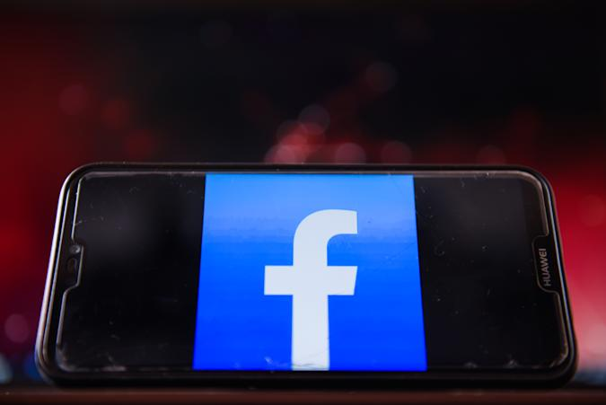 POLAND - 2020/08/04: In this photo illustration, a Facebook logo is displayed on a smartphone. (Photo Illustration by Omar Marques/SOPA Images/LightRocket via Getty Images)