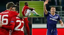 Manchester United concede late equaliser to give Anderlecht hope in Europa League tie
