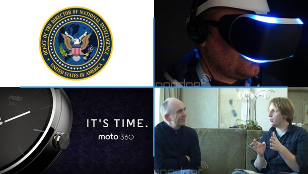 Weekly Roundup: the Moto 360, Sony's Project Morpheus, NSA transparency reports and more!