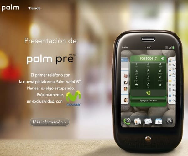 GSM Palm Pre makes exclusive first appearance on Movistar