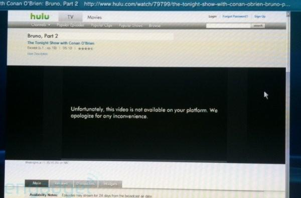 """Hulu to PlayStation 3 browsers: """"This video is not available on your platform"""""""