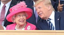 "Donald Trump says he had ""automatic chemistry"" with the Queen but denies 'fist bumping' her"