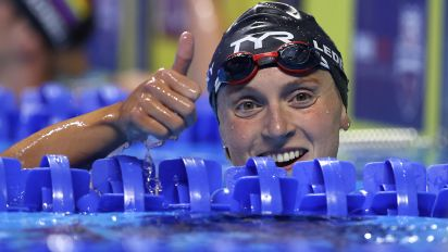 Ledecky qualifies for two events in dominant fashion