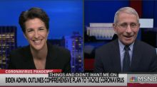 Dr. Fauci says Trump administration 'blocked' him from appearing on 'Rachel Maddow' show: 'Let's call it what it is'