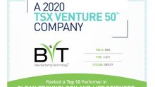 Bee Vectoring Technologies Named to 2020 Venture 50 and is a Top Performer in the Clean Technology and Life Sciences Sector