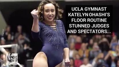 Watch: UCLA gymnast Katelyn Ohashi's