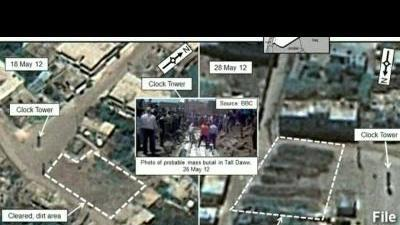 Satellites images show Syrian 'mass grave'