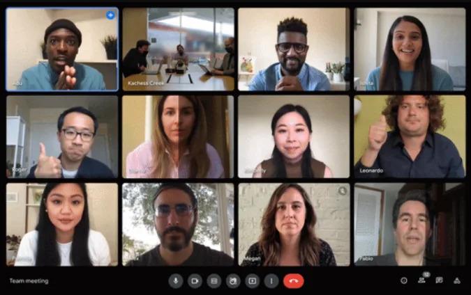 Ajuste automático de brilho do Google Meet