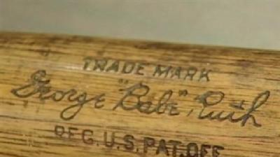 Babe Ruth Fans Get Chance To Hold Icon's Bat