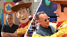 Tom Hanks shares the sweet exchange he has with Woody on the red carpet