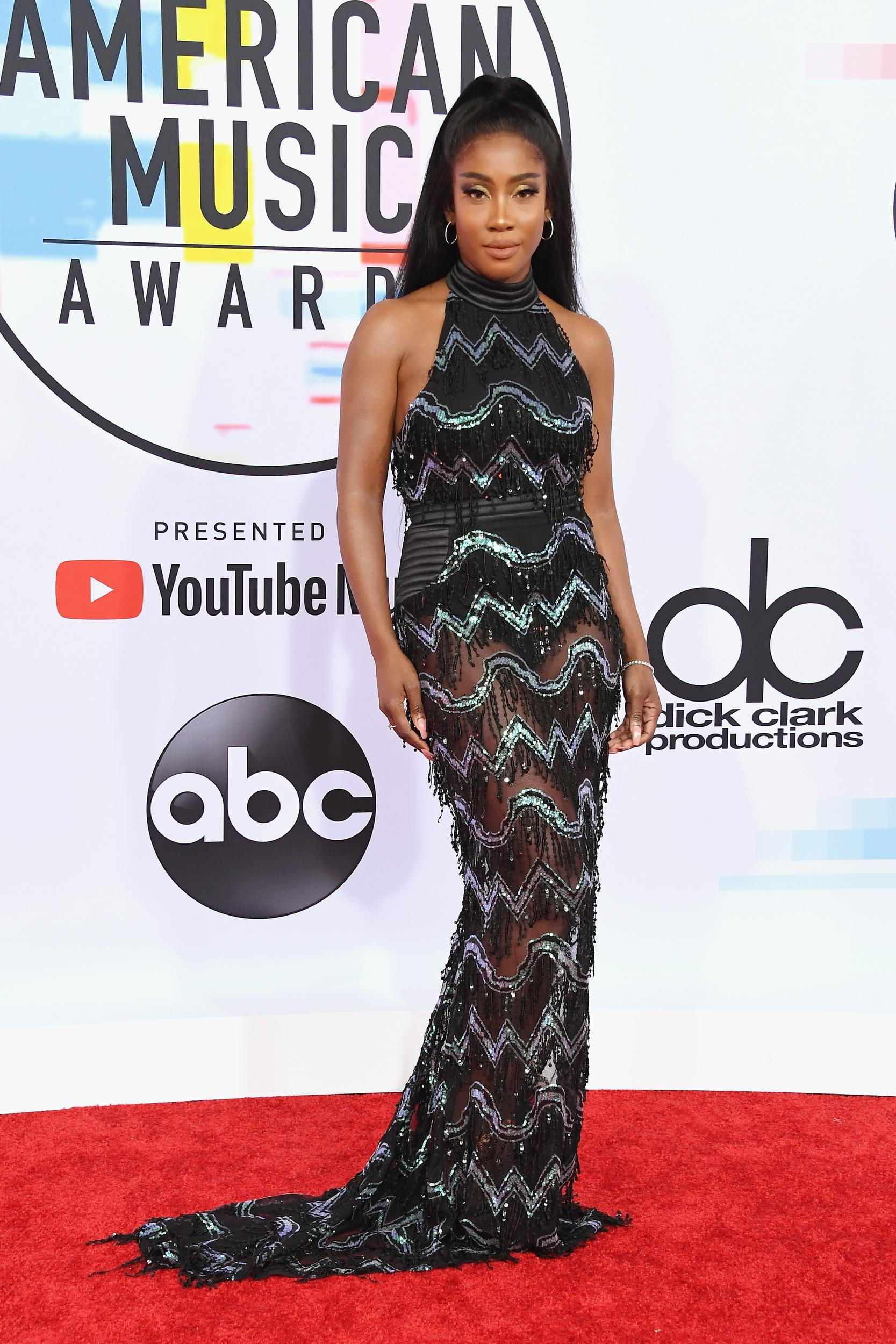 LOS ANGELES, CA - OCTOBER 09:  Sevyn Streeter attends the 2018 American Music Awards at Microsoft Theater on October 9, 2018 in Los Angeles, California.  (Photo by Steve Granitz/WireImage)