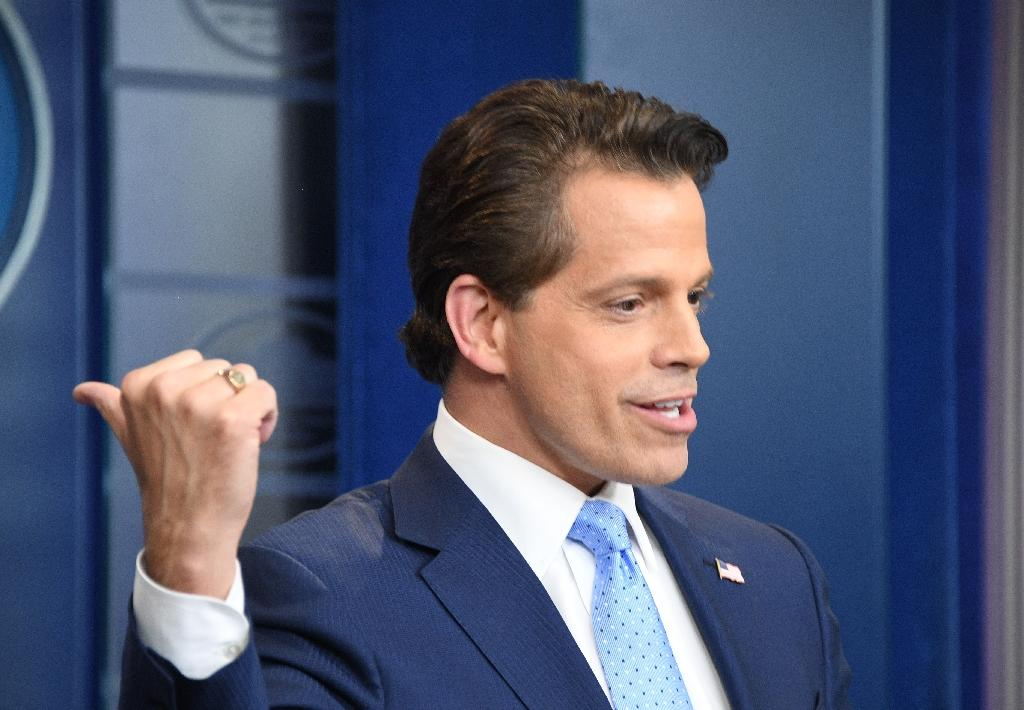 Anthony Scaramucci was brought in a little over a week ago to get the White House back on message, but quickly prompted negative headlines of his own (AFP Photo/JIM WATSON )