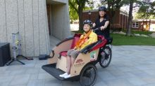 Specialized 'trishaw' lets Saskatoon care home residents experience cycling again