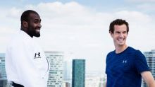 Andy Murray meets world judo champion Teddy Riner for unusual training session in Paris