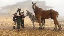 Colorado Rancher Who Fled Fire Is Reunited With Four-Legged Pals