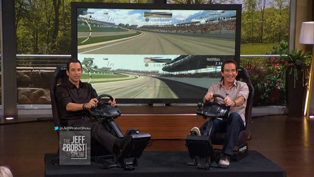 Jeff and Helio Castroneves Race!