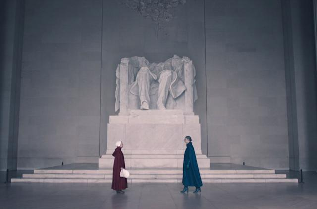 How The Handmaid's Tale defaced the Lincoln Memorial