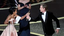 Inside the Oscars 2020: Crowd erupts over Brad Pitt's jab at impeachment trial, 'Parasite' gets room on its feet and more