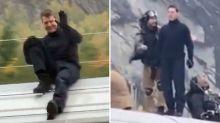 Tom Cruise demuestra que no tiene miedo al peligro mientras sonríe relajado sobre un tren en movimiento