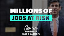 Labour Launches Attack Ads Ridiculing Rishi Sunak's Signed Tweets Amid Job Fears