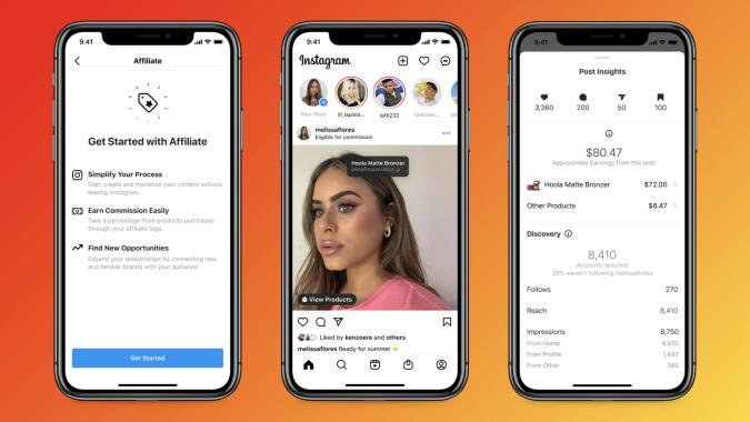 Instagram will let creators earn affiliate commission directly from their posts.