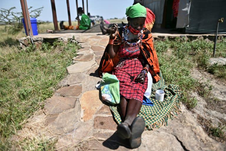 Working for the tourists (AFP Photo/Tony Karumba)