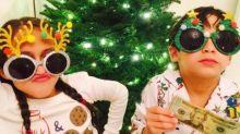 J.Lo's TwoLittle Divas Get Into the Christmas Spirit