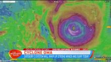 Unpredictable path of Cyclone Oma
