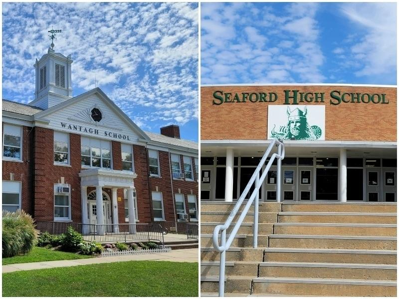 Two students at Wantagh Elementary School and Seaford High School tested positive this week for the coronavirus, records show.