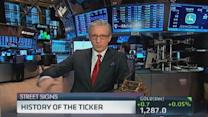 History of the ticker