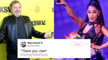 Mark Hamill and Ariana Grande share a glorious Twitter exchange over 'Thank u, next'