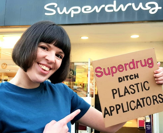 Superdrug removes all plastic from its tampon applicators