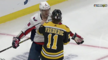 Ovechkin declines fight with Bruins rookie, spears him in the groin instead