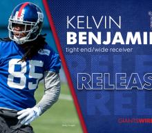 Giants will release Kelvin Benjamin