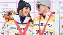 Perrine Laffont, Mikael Kingsbury add to dominance with moguls world titles