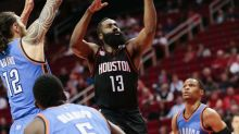 Harden's find carries Rockets past dominant Westbrook, Thunder