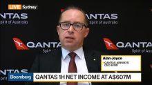Qantas 1H Net Income at $607 Million