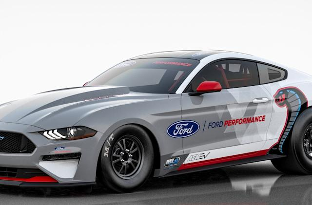 Ford's electric Mustang dragster delivers over 1,400 horsepower